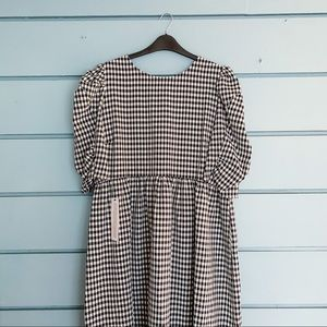 Topshop black gingham maxi dress NWT